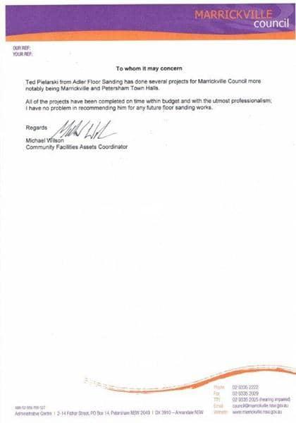 adler floor sanding testimonials
