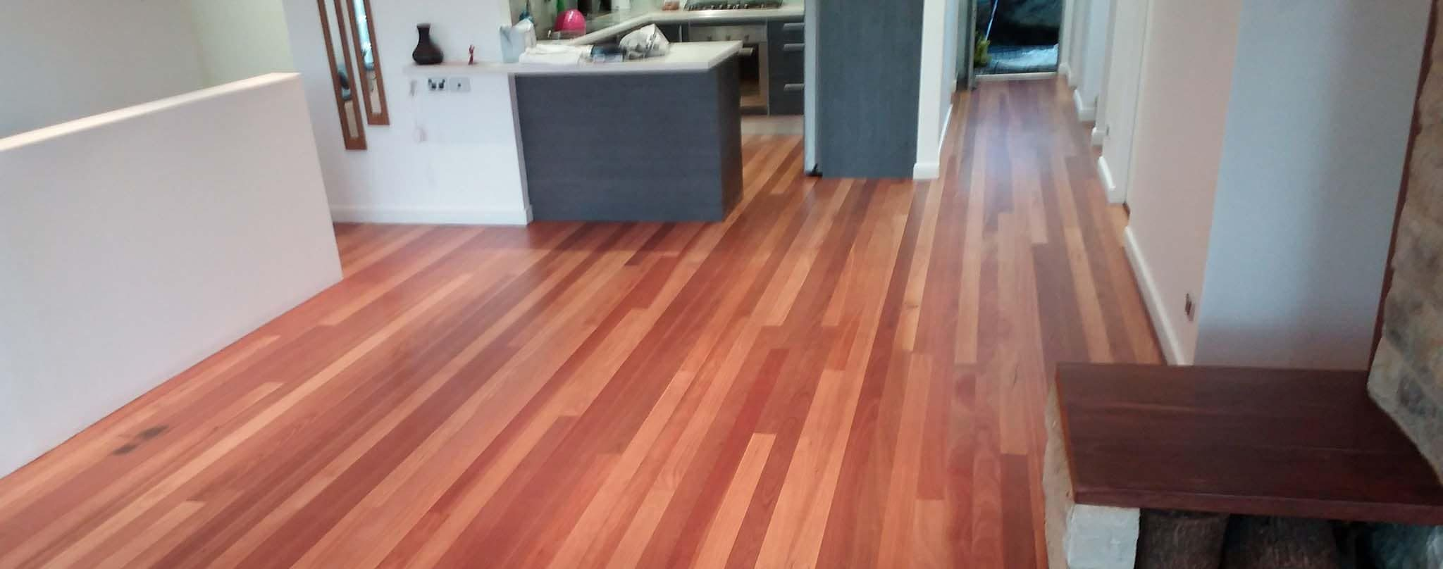 Kitchen Timber Floorboard Installation and Finish