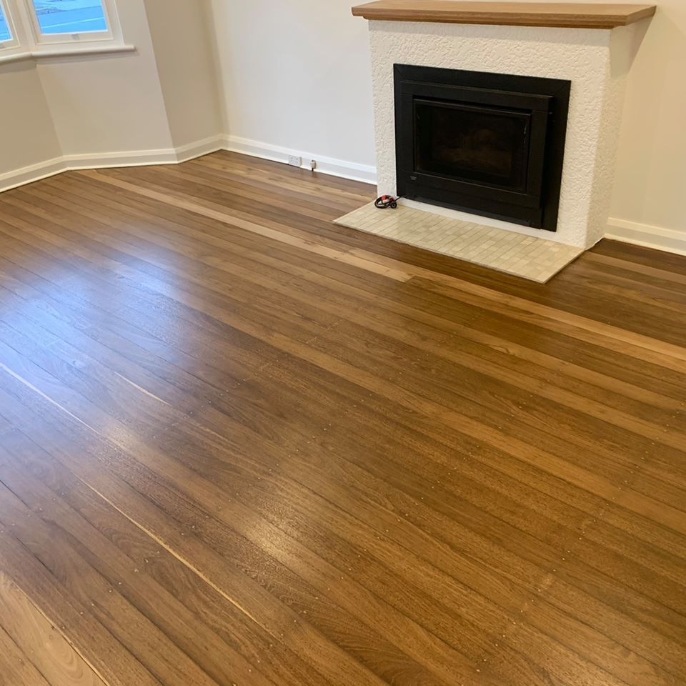 pine floorboards sanded and polished
